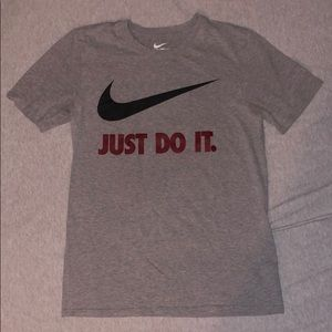 The Nike Tee Just Do It ,Gray ,Sz Small